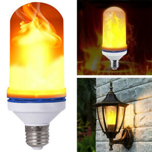 1-2X B22 LED Flame Flickering Effect Fire Light Bulb Flame Lamp Simulated Decor