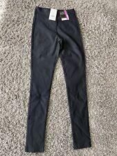 black high waisted work / school slim fit ladies trousers
