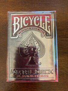 Bicycle Metal Deck Playing Cards (red) - Limited Numbered Edition - SEALED rare
