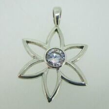 Center Flower Pendant Sterling Silver Silpada Cz