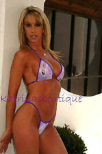 Sexy Purple Hula Girl Thong Bikini/Tanning Swimsuit/Made in usa/s-m/Pole Dancer