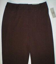 NWT NEW womens ladies size 12 X 30 brown STUDIO WORKS stretch dress pants $32