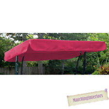 Pink Water Resistant 2 Seater Replacement Canopy for Garden Hammock Swing Seat