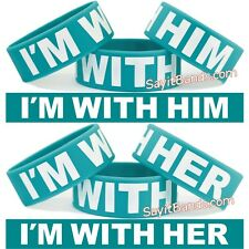 I'M With Him wristband + I'M With Her wrist band = 2 Great Bracelets / I Am With