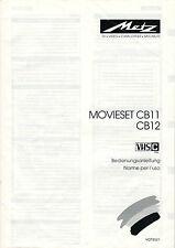 Metz-movieset cb11 cb12-manual de instrucciones-b2314