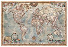 PUZZLE 4000 PIEZAS teile pieces EL MUNDO MAPA POLITICO THE WORLD MAP EDUCA 14827