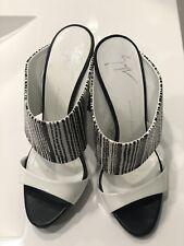 Giuseppe Zanotti, Designer Shoes, Women, Brand, Size 37.5, Black And White, Heel