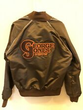 Vintage George Jones Show Logo Patch Holloway Tour Bomber Jacket - Rare Brown