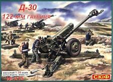 122mm D-30 M soviético/ruso/Pacto de Varsovia Howitzer 1/35 SKIF Raro