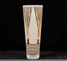 "ETTORE SOTSASS Copper/Etched Glass Vase -  Italy - 12.5""H"