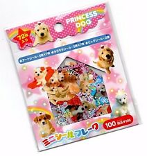Rare Kamio Japan Kawaii Sticker Sack stickers flakes Seal Princess Dog