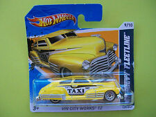 Hot Wheels City Works '12 - '47 CHEVY FLEETLINE #09/10 (Big Yellow Taxi) NIP2010