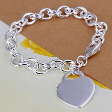 Damenarmband Ankerkette Herz Schmuck Armband Damen pl. mit Sterlingsilber DA268