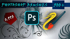 Brushes Photoshop, Bundle with 500, ABR, creative tool, effects, Templates pack