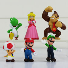 Super Mario Brothers Luigi 6 Figures Toy Cake Topper Decoration Party Bag Filler
