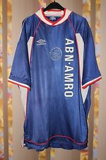 AJAX AMSTERDAM 1999/2000 HOLLAND AWAY FOOTBALL JERSEY SHIRT TRIKOT UMBRO XXL