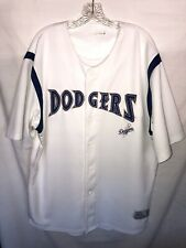 Mens Los Angeles Dodgers True Fan MLB Button Front Jersey - White XXL