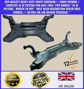 FRONT SUBFRAME AXLE CROSSMEMBER FOR JEEP PATRIOT COMPASS 2WD 2007> DODGE CALIBER