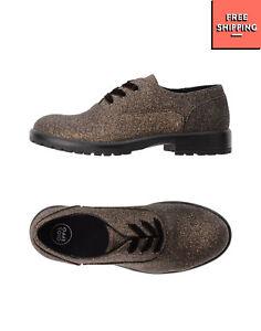 GIOSEPPO Oxford Shoes EU 35 UK 2.5 US 3.5 Glitter Panel Lug Sole Lace Up Closure