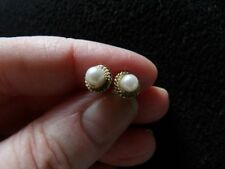 Pearl Round Not Enhanced Yellow Gold Fine Earrings