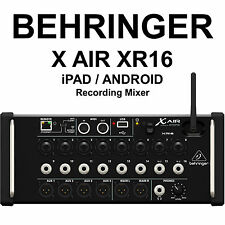 BEHRINGER X AIR XR16 iOS / Android Digital Recording Mixer with Remote App