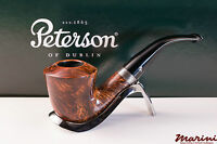 PFEIFE PIPES PIPE PETERSON OF DUBLIN WICKLOW B10 CURVA RADICA ORIGINALE SILVER
