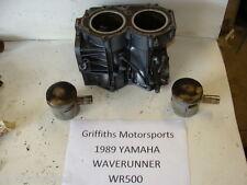 89 Yamaha Wave Runner WR500 87-88-90-91-92 WAVERUNNER CYLINDERS BLOCK PISTONS