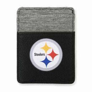 Pittsburgh Steelers Front Pocket Wallet, NFL Licensed Pebble