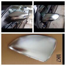 VW golf MK7 Vii matt chrome aluminium mirror cover Set GTI GTD Golf R -UK SELLER