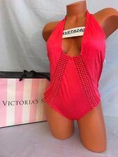 Victoria's Secret Swimsuit One Piece Hot N Spicy Plunge Macramé Monokini~Sz M