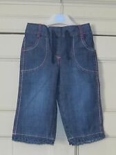 M&Co Girls Cropped Jeans - Age 3-4 Years - Used VGC