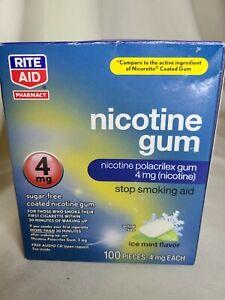 Rite Aid Gum 4 mg (100 PIECES TOTAL) Ice Mint Flavor Sugar-Free 05/2022