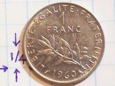 COIN FRANCE 1960 1 FRANC REPUBLIQUE FRANCAISE LIBERTE – EGALITE - FRATERNITE
