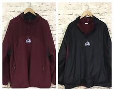NHL Colorado Avalanche Hockey Fleece Long Sleeve Windbreaker Jacket REVERSIBLE