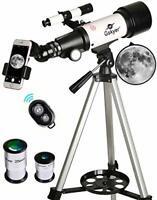 Gskyer Telescope, 70mm Aperture 400mm AZ Mount Astronomical Refracting Telescope