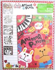 Q-Lia Animal Punch Letter Set with Stickers~Kawaii!
