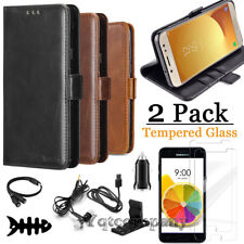 For Samsung Galaxy J7 2018 2017 Wallet Leather Flip Case Cover with Accessories