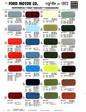 1972 FORD MUSTANG TORINO MERCURY CYCLONE COMET LINCOLN MARK IV PAINT CHIPS MS7