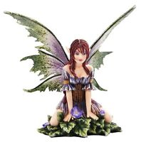 Amy Brown Wild Violet Faerie Winged Fairy Statue Enchanted Figurine.Licensed Art