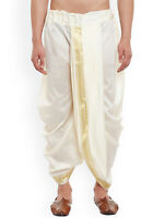 Men's Dhoti Ethnic Dress Indian Bollywood Style Wedding Dress Off White silk