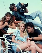 BROOKE THEISS BIKINI ANDREA ELSON BILLY WARLOCK 1988 NBC TV PHOTO TRANSPARENCY