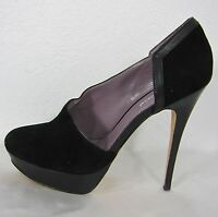 CHARLES DAVID SUEDE PLATFORM HEELS SHOES SIZE 9 BLACK
