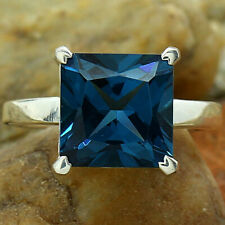 London Blue Topaz 925 Sterling Silver Handmade Ring Jewelry s.7.5 SDR80080