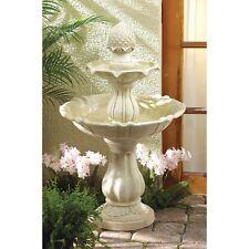 Acorn Water Fountain Indoor Outdoor Garden Patio 3 Tier Ivory Home Decor Pump