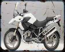 Bmw R1200Gs 11 2 A4 Metal Sign Motorbike Vintage Aged