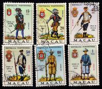 Macau 1966 Mi. 433-438 Gestempelt 100% Militäruniform