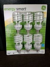 GE energy smart 100 Watt Spiral light bulb Package of 6 Uses 26 watts New #47709