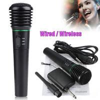 Con Fili senza Fili 2 in 1 Palmare Microfono Mic Ricevitore Studio Sistema