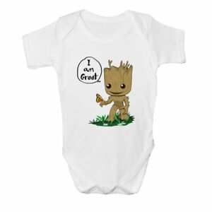 I am Groot Style Age Size Kids Girls Boys Baby Grow Bodysuit Gift Idea New