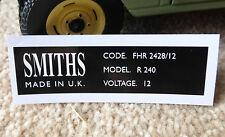 Land Rover Series 2a 88 109 Smiths Rectangular Heater Label Sticker FHR3426